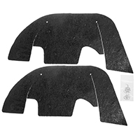 Control Arm Dust Shield Set w/ Hardware - 69-72 Chevelle El Camino w/ Plastic Inner Fenders