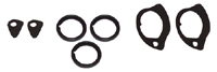 62-65 Nova Door Handle & Lock Gasket Set (does both doors)