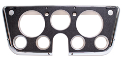 Dash Bezel w/ Gauges - Black / Chrome - 67-72 Chevy GMC Truck Suburban; 69-72 Blazer Jimmy