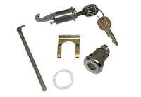 Glove Box (with Case) & Trunk Lock Cylinder Kit with GM Round Head Keys