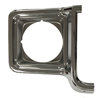 Headlamp Bezel - RH Chrome / Dark Gray - 73-78 Chevy GMC C/K Truck