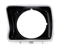 Headlight Bezel - Silver/Black - Round - LH - 78-79 F100 F150 F250 Bronco