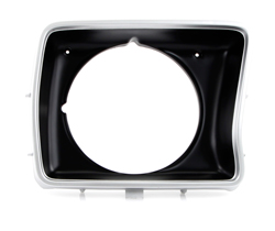 Headlight Bezel - Silver/Black - Round - RH - 78-79 F100 F150 F250 Bronco