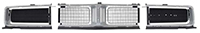 Grille Set - Silver - 69 Charger