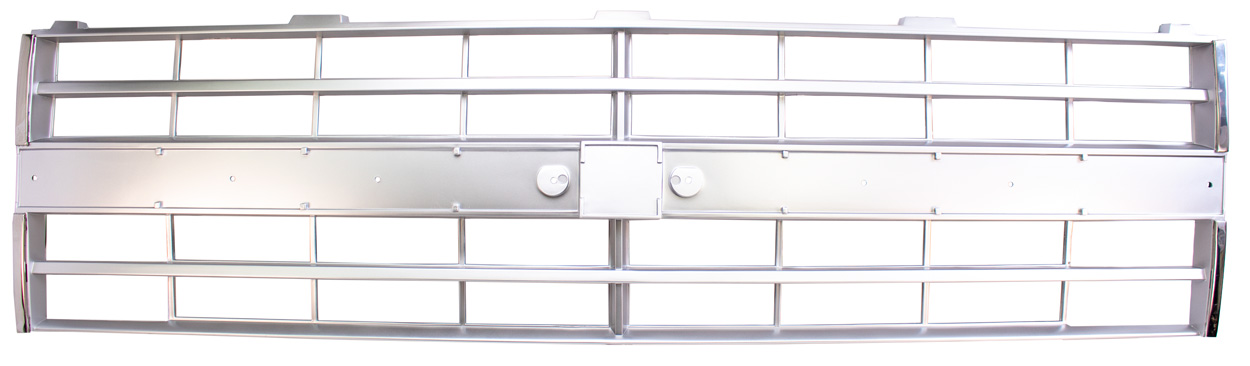 Grille - Light Argent with Molding - For Dual Headlights - 85-86 Chevy C/K Truck; 87-88 Chevy R/V Truck