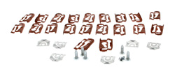 Upper / Sides Windshield Molding Clips & Screw Set (32pcs) - 68-74 Chevy II Nova; 71-74 Ventura; 73-74 Apollo Omega w/o Vinyl Top