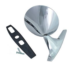 Outside Mirror - Standard Style - Chrome - Manual - LH - Dodge Plymouth 71-72 B & 71-74 E Body