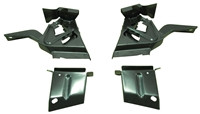 Deck Lid Hinge Brackets (4pc Set) - 67-69 Camaro Firebird (Coupe)