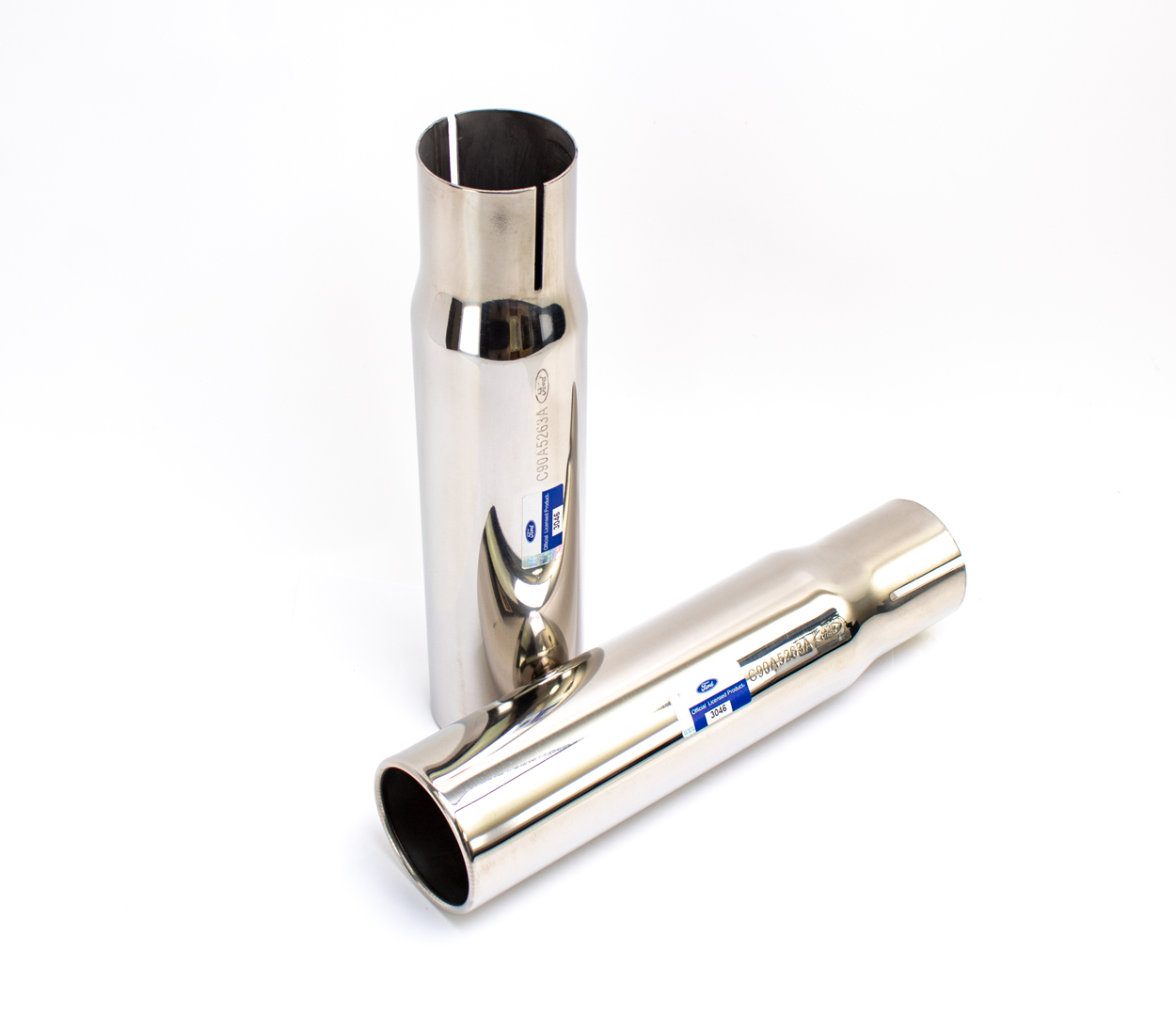 "Exhaust Tips (2.25"") - LH/RH Pair - 69 Torino Cyclone"