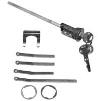 Trunk Lock Kit - 66-72 A-Body; 66-72 B-Body; 70-72 E-Body