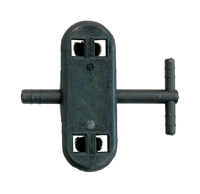 Washer Hose T Connector (Black) - 70-74 E-Body; 71-74 B-Body