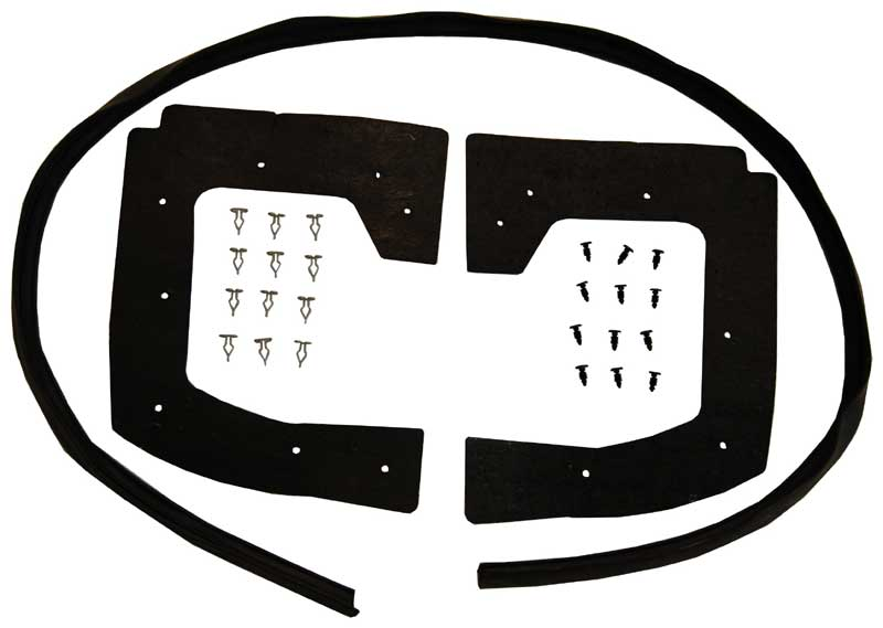 68-70 Mopar B-Body Rear Fender Shield Gasket Set