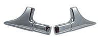 70-72 Chevelle Vinyl Top Front Corner Moldings - LH & RH (Sold as a Pair)