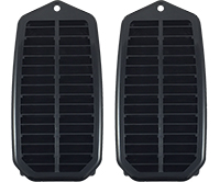 70-72 Chevelle Coupe/Convertible Door Jamb Vent Louver with Seal - LH & RH (Sold as a Pair)