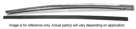 Quarter Window Chrome Vertical Molding - RH - 66-67 GM A Body (Coupe & Convertible)