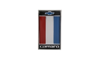 "Trunk Emblem - ""Camaro"" with Bowtie Logo (Red) 75-77 Camaro"