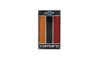 "Trunk Emblem - ""Camaro"" with Bowtie Logo (Orange) 75-77 Camaro"