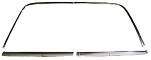 Back Glass Molding Set - 68-74 Chevy II Nova 2DR Coupe