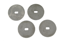 67 Camaro RS Headlamp Motor Steel Drive Washer 4pc Set (does both sides)