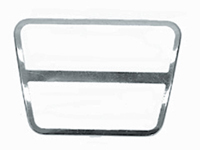 68-74 Nova 64-72 Chevelle 64-72 GTO 67-81 Camaro Firebird Manual Transmission Clutch or Brake Pedal Pad Stainless Trim