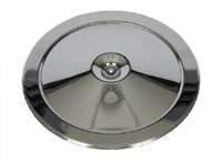 Air Cleaner Lid - Triple Chrome Open Element - 66-69 Chevy II Nova; 66-69 Chevelle El Camino; 67-69 Camaro