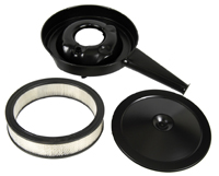 Cowl Induction Air Cleaner - With Black Lid & Filter - 70-72 Chevelle El Camino; 69 Camaro