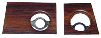 69 Camaro Dash Radio Woodgrain Plate, LH/RH Pair (Bonded to Steel Mount Plate)