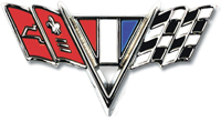 "Fender Emblem - ""V-Flag"" - LH or RH (Sold Each) - 65-67 Chevy II Nova Chevelle Fullsize Chevy Car; 67 Camaro"