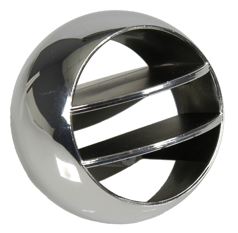 Astro Side Vent Ball - Chrome - LH or RH (Sold Each) - 66-69 Chevelle El Camino; 67-68 Camaro Firebird; 65-68 Fullsize Chevy Car