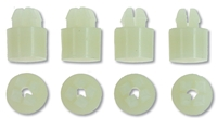 Headlamp Bezel Barrel Nuts (8pcs) - 67-68 Camaro