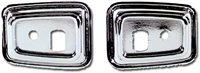 68-69 Camaro Firebird Deluxe Door Grab Handle Bezel 2pc LH & RH Set
