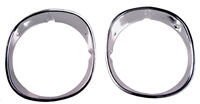Headlamp Bezels - Pair - 70-73 Camaro