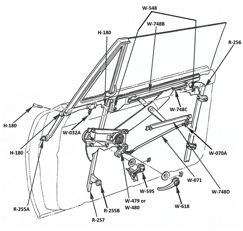 camaro door diagram