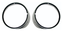 Headlamp Bezels w/ Chrome Trim - Pair - 69 Camaro (Standard)