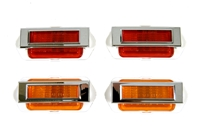 69 Camaro Front/Rear Side Marker Lens Assembly 8pc Set (Lamps & Bezels)