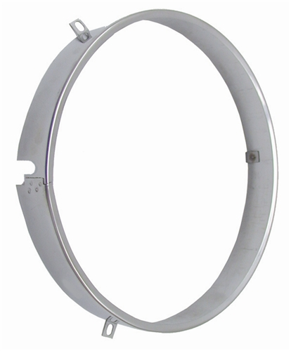 "Sealed Beam Headlamp Retainer Ring - 1"" Width w/ Notch"