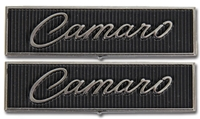 "Door Panel Emblems - ""Camaro"" - Standard Interior - LH/RH Pair - 68-69 Camaro"