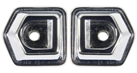 69 Camaro Deluxe Dash Grab Handle Bezel, LH/RH Pair