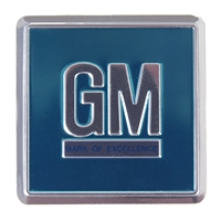 67 Camaro Nova Chevelle Fullsize Aqua GM Mark Foil Door Decal (sold each)