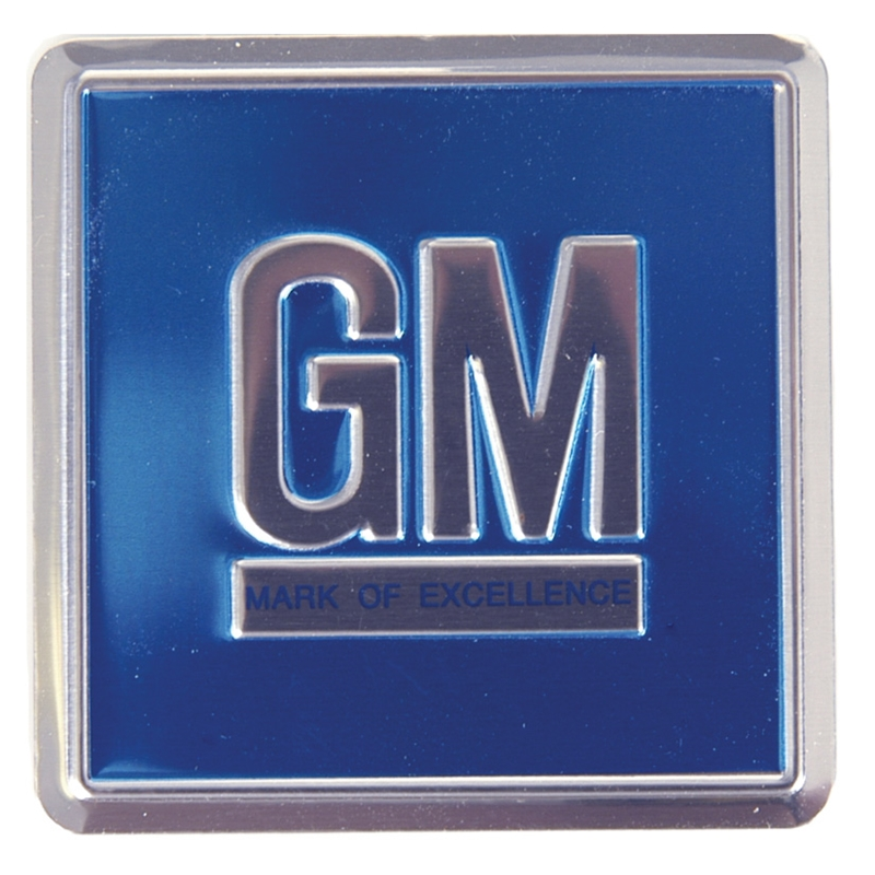 "Door Decal - Blue Foil ""GM Mark Of Excellence\"" (Sold Each) - Fits many 68-70 GM Models"