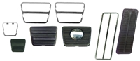 69-72 Manual Pedal Pad w/ Disc Pad & Trim Set