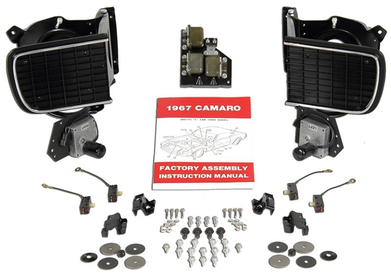 1967 Camaro Headlight Switch Wiring Diagram : Camaro hideaway headlight wiring diagram