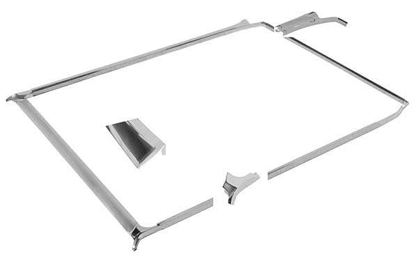 1968 69 70 71 72 El Camino new RH chrome front bed corner molding