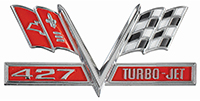 66-67 Chevelle / El Camino 427 Turbo-Jet Fender Emblem (Sold as Each)