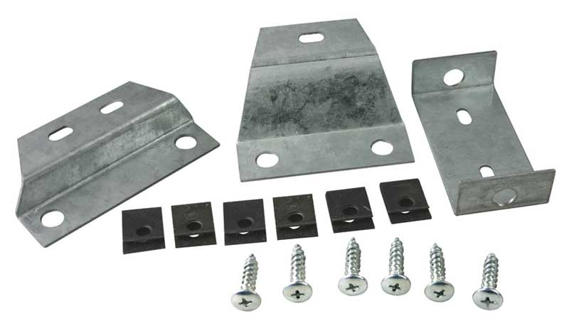 Console Mounting Brackets - 3 Piece Set - 4-Speed - 66-67 Chevelle El Camino