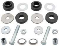 Radiator Support Bushings - Upper & Lower with Hardware - 65-67 GM A Body (Except GTO)