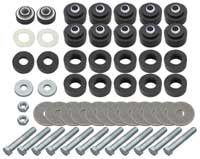 Body & Radiator Support Bushing Set w/ Hardware - 64-67 Chevelle Cutlass Coupe; El Camino