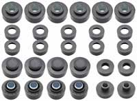 Body & Radiator Support Bushing Set - 68-72 GTO Coupe