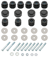 Body & Radiator Support Bushing Set w/ Hardware - 68-72 Chevelle Cutlass Coupe; El Camino