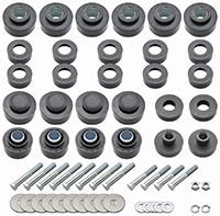 Body & Radiator Support Bushing Set w/ Hardware - 68-72 GTO Coupe